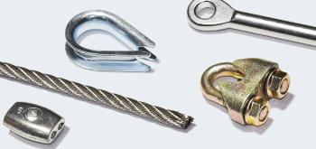 Ocelová lana, příslušenství